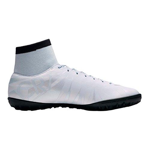 Nike - Nike MercurialX Vctry VI CR7 Df Tf Scarpini Calcetto Uomo Bianco Blue Tint/Black-white-blue Tint