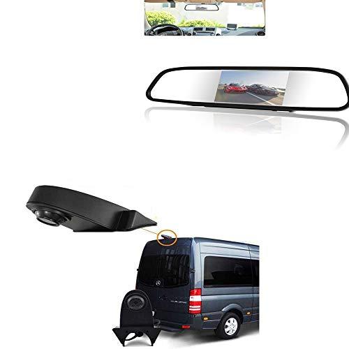 YMPA Rückfahrsystem Einparkhilfe Transporter Rückfahrkamera Spiegelmonitor 12,7 cm 5 Zoll Inch 10 Meter Kabel Farbe