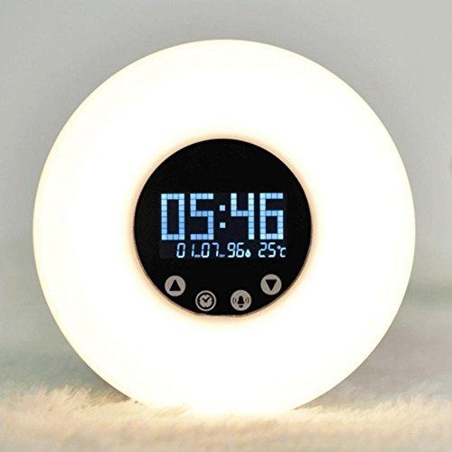 Inconnu ZT Sunrise Wake-Up Lampe Coucher de Soleil Lampe de Coucher LED Coloré Alarme de Nuit Lumière Smart Touch Up Lampe
