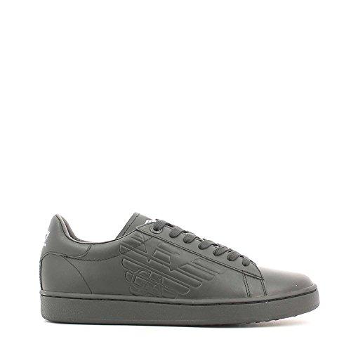Emporio Armani Scarpe Sneakers Uomo in Pelle Nuove, Bottes Motardes homme - noir - noir,