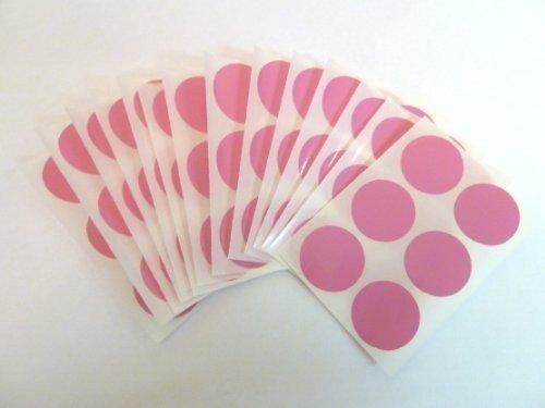 80 Etiquetas , 25mm Diámetro Redondo , Rosa , Plástico / Vinilo Color Code Pegatinas , autoadhesivo Adhesivo Puntos De Colores