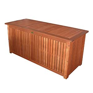 massive auflagenbox holz mit innentasche kissenbox gartenbox hartholz garten. Black Bedroom Furniture Sets. Home Design Ideas
