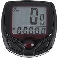 Domybest Cronómetro del odómetro Velocímetro para Bici con la Pantalla LCD digital impermeable
