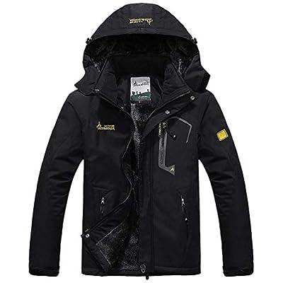 SODSIM Herren Softshelljacke mit Kapuze Funktionsjacke Wasserdicht Atmungsaktiv Outdoorjacke Winter Skijacke