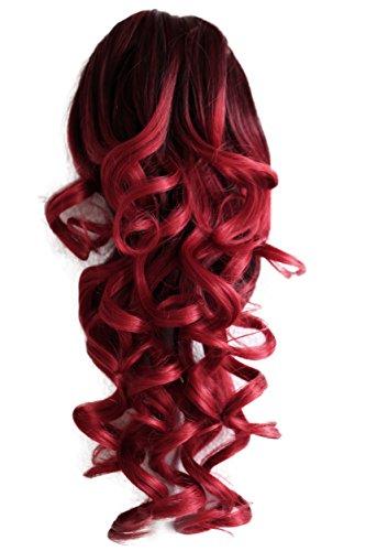 PRETTYSHOP Haarteil Hair Piece Zopf Pferdeschwanz Voluminös ca.50cm Hitzebeständig ombre rot mix #1T3100 H145