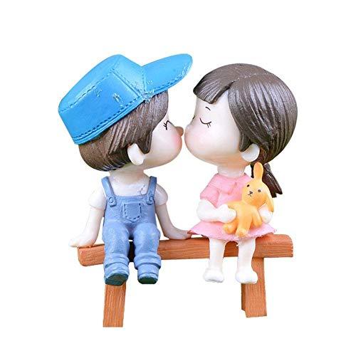 WopenJucy - Figuras de jardín de Hadas para niños y niñas, Figura Decorativa en Miniatura para decoración de Bodas, casa de muñecas, Maceta, 1 par