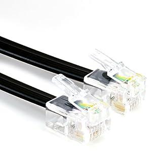CSL - 3m Telefonkabel Modularkabel Westernanschlusskabel mit 2xRJ11 6P4C 4-polig belegt 1:1 - DSL ISDN NTBA UAE genormte RJ-Steckverbindung - geeignet für ISDN Telefone Fax Anrufbeantworter Splitter