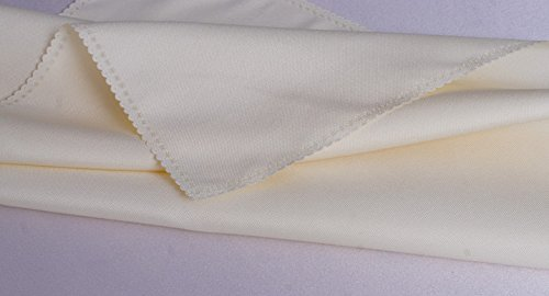 ZHFC l'hôtel restaurant tissu tissu table ronde cloth tissu serviette les aliments à l'occidentale riz blanc 48 * 48cm 1 bloc,le riz blanc,140 * 4 \