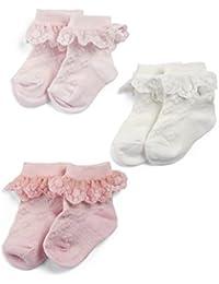 Mamas & Papas Frill Socks, Calcetines para Bebés (Pack de 3)