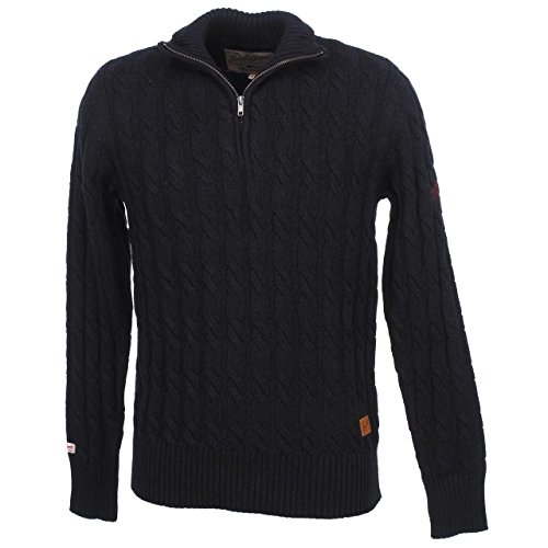 JACK & JONES STRICK PULLOVER WINTER PULLI FREDDIE KNIT ZIP Navy Blazer