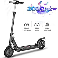 Electric Scooter Adults,8.5 inch Dual 350w Motors,Max Speed 30km/h,Air Filled Tires,264 lbs Maximum Load,UltraLight Foldable E-Scooters for Adults and Teens,Intelligent LED Display and Front Light