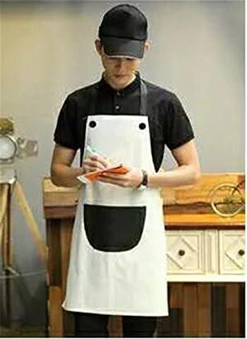 MONEYY Tablier publicitaire, blanc pur, uniforme coréen tablier dacron, 72cm*70cm,G