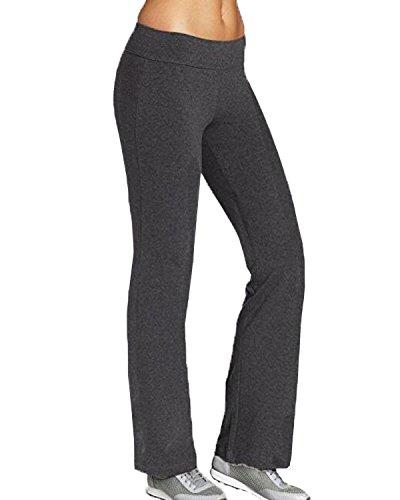 Kidsform Pantalon de Sport Casual Femme Yoga Jogging Danse Pants Elastique Large Pantalon Gris EU 40