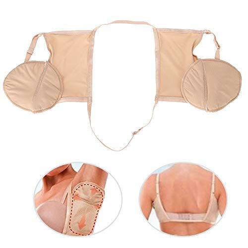 2pcs protezioni del sudore per le donne ascellare assorbenti del reggiseno del sudore ascellare, ascella riutilizzabile del cotone durevole anti-sudore e anti-odore