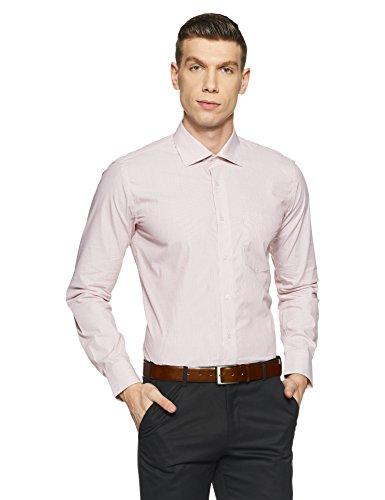 Van Heusen Men's Stripe Slim Fit Formal Shirt (VHSF318M009997_Light Pink_40)