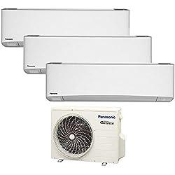 Climatizzatore trial split ETHEREA R32 Panasonic nuova serie Z - 7000+7000+7000 btu A+++