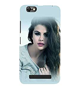 For Lenovo Vibe C :: Lenovo A2020 beautiful girl, attractive girl, heppy girl Designer Printed High Quality Smooth Matte Protective Mobile Case Back Pouch Cover by APEX
