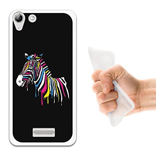 WoowCase Wiko Selfy 4G Hülle, Handyhülle Silikon für [ Wiko Selfy 4G ] Regenbogen Zebra Handytasche Handy Cover Case Schutzhülle Flexible TPU - Transparent