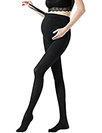 Vellette Medías y calcetines Opacas de Maternidad del invierno Leggings Ajustable Pantimedias embarazadas
