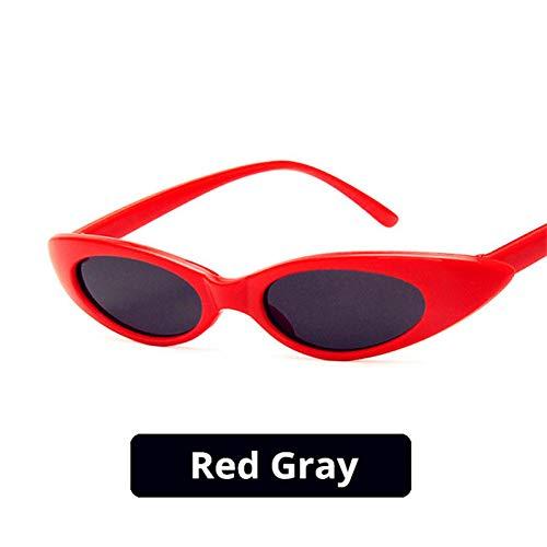BUYAOAQ Runde Cat Eye Sonnenbrille Männer Und Frauen Street Style Kleinen Rahmen Drop-Förmige Polarisierte Sonnenbrille