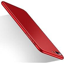 Cover iPhone 7 Plus, HUMIXX Custodia Ultra Sottile Anti-Graffio e Resistente Alle Impronte Digitali Caso Della Copertura Protettiva in Plastica Dura [Skin Series] (rosso)