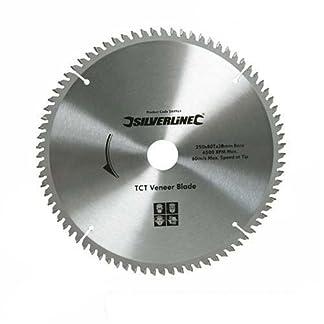 Silverline 427539 – Disco de TCT para madera contrachapada, 100 dientes (300 x 30 – anillos de 25, 20 y 16 mm)