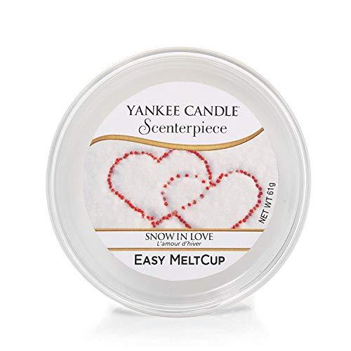 YANKEE CANDLE coupelle de Cire « Amour d'Hiver » pour diffuseur ScenterpieceTM, Blanche