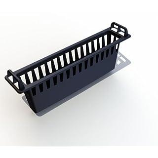 Schmutzfangkorb Einlaufkasten, 436 x 96 x 165 mm, schwarz