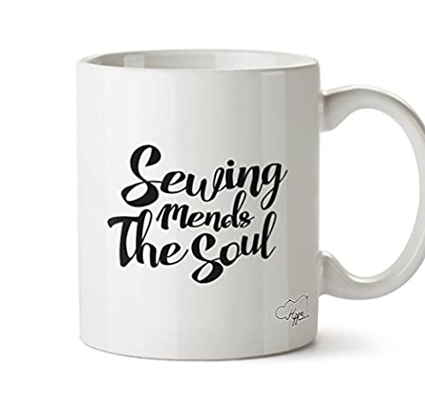 Hippowarehouse Couture Mends The Soul 283,5 gram Mug Cup, Céramique, blanc, One Size (10oz)