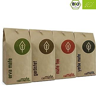 Bio-Mate-Tee-Probierset-4-verschiedene-Matetee-Sorten-zum-ausprobieren-200g-frische-Erva-Mate-200g-roh-Mate-200g-frischer-Matetee-200g-gersteter-Matetee