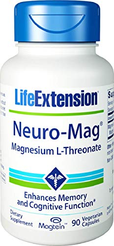 Life Extension, Neuro-Mag, Magnesium-L-Threonat, 2000mg, 90 Veg. Kapseln
