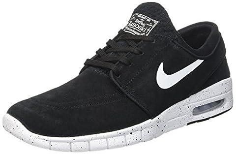 Nike Herren Stefan Janoski Max L Skateboardschuhe, Schwarz (Black/White), 44.5 EU