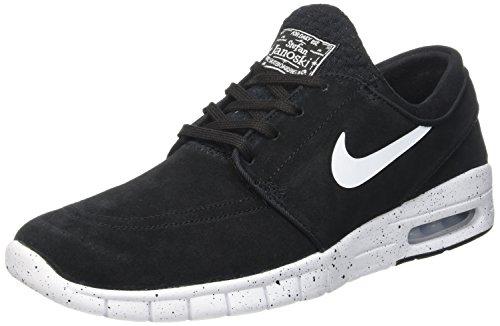 Nike Herren Stefan Janoski Max L Skateboardschuhe Schwarz (Black/White)