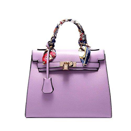 Borse Da Donna Europee E Americane Di Borse Di Platino Hanno Decorato Pacchetto Business Delle Borse Purple