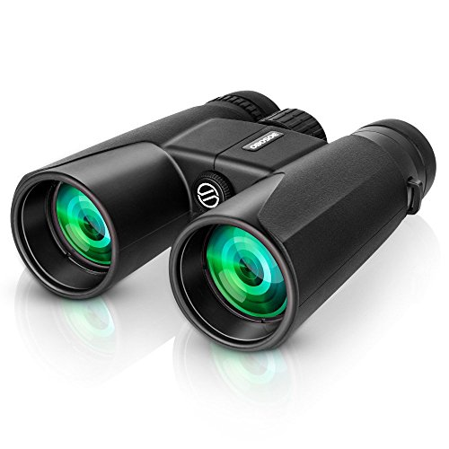 OBOSOE 12x 42 Fernglas Wasserdicht Zoom Binoculars Ultra HD FMC Ferngläser mit Tache für Vogelbeobachtung Landschaftsbeobachtung Fußballspiel Jagd Angeln Reisen