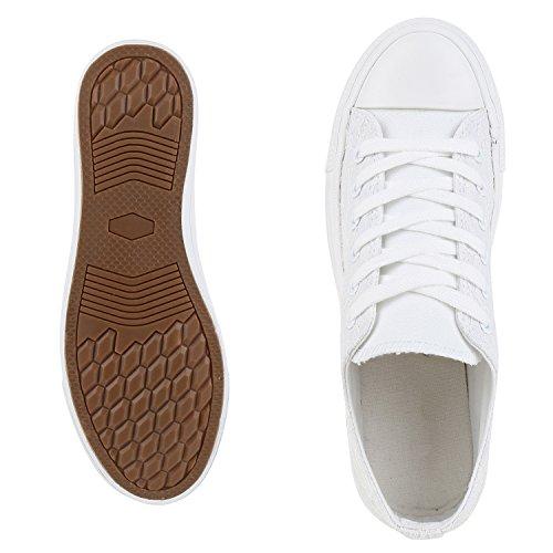 Sneakers best-boots da donna scarpe da ginnastica atletica scarpe Cords Slipper Weiss Neu Nuovo
