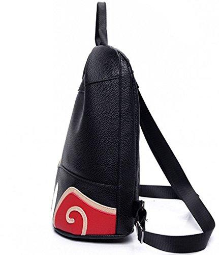 ZPFME Womens Handtasche Mode Multifunktional Drei Schule Handtaschen Party Retro Damen Damen Tasche Black