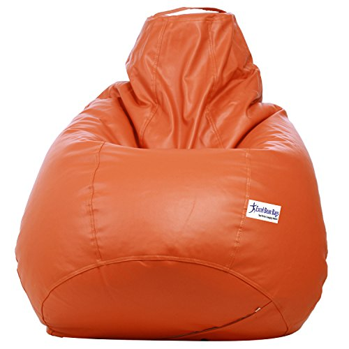 Excel Classic Bean Bag Cover without beans - XXXL Size - Orange Colour  available at amazon for Rs.999
