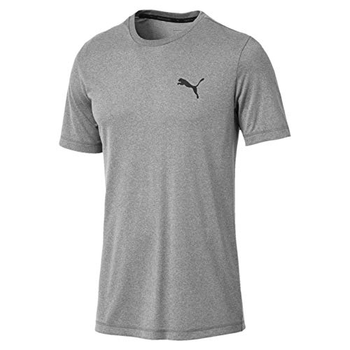 PUMA Herren Active Tee T-Shirt, Medium Gray Heather, M