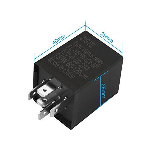 ziste-5-pines-rele-fl-de-12v-electro-tecnicos-blinkve-rzogerung-fix-para-led-flashlight-incluida-