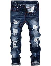ELECTRI Homme Pantalons en Denim Jeans Casual Vintage Jeans Pantalon  Jogging de Travail Slim Sportwear 8f7fa3930f3f