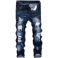 Geili Herren Jeanshosen Biker Lang Destroyed Jeans Hose Vintage Used Look Wasserwäsche Regular Fit Straight Denim... preisvergleich bei billige-tabletten.eu
