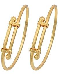 MissMister Gold plated, Adjustable size, Bangle Kada Kids Nazariya new born (0-2Yrs)