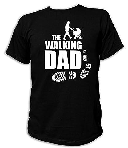 Artdiktat T-Shirt des Hommes - The Walking Dad - Poussette