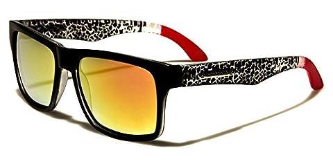 Biohazard - Lunettes de soleil - Homme noir BLACK/RED/ANIMAL PRINT/RED MIRROR LENSES