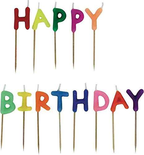 Stylex 10721 - Kerzen-Set 'Happy Birthday', 13 teilig