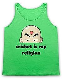 Cricket Is My Religion Cricket Slogan Tank-Top Weste, Neon Grun, XL