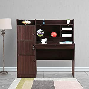 HomeTown Vento Engineered Wood Study Table in Walnut Colour
