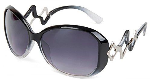 styleBREAKER Damen Retro Sonnenbrille mit stylischem Bügel und Gläsern in Schmetterlingsform, UV 400 Schutz 09020044, Variante:Variante-2