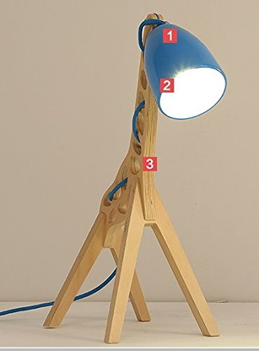 Post Moderne kreative dekorative Lampe Schlafzimmer Lampe Nacht Studie reizende Kinder Bettwäsche Licht Projektor Massivholz blau